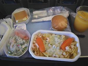 コンチネンタルの機内食