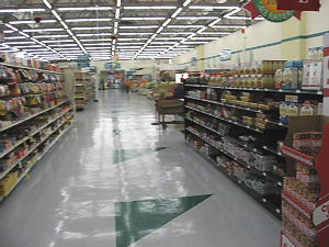ペイレス・スーパーマーケット内