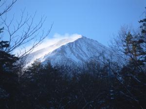 富士山の雪煙り
