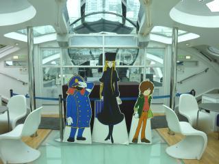 ヒミコ船内には、メーテル・鉄郎・車掌が