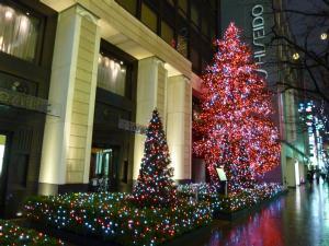 銀座の街はクリスマス一色