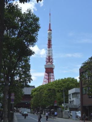増上寺前からの東京タワー