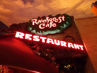 夕食はRainForest Cafe