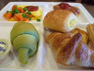 朝食のパンがウリ