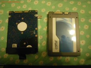 Gateway EC19C-N52Cの内蔵HDDとSSDとの比較