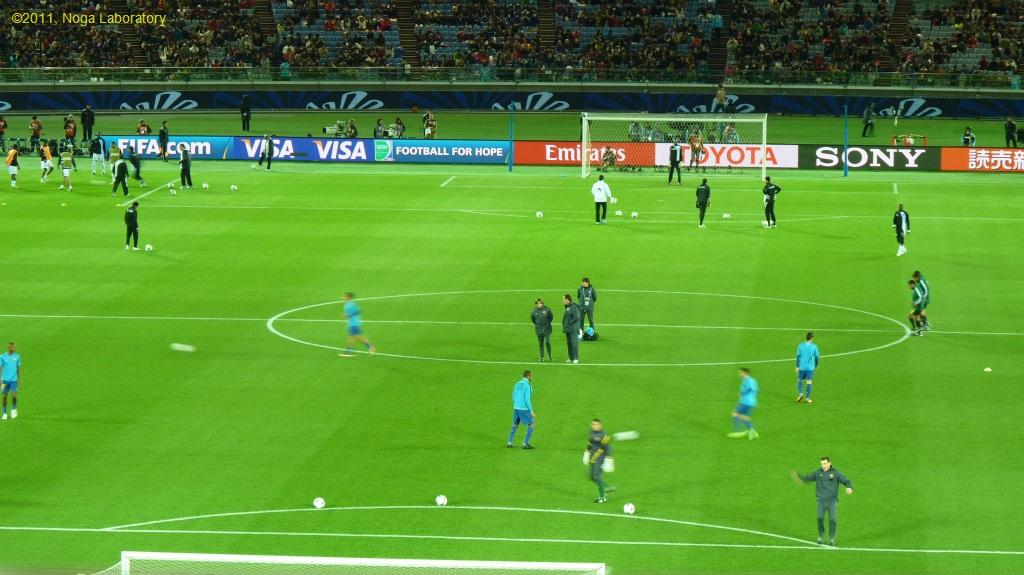 試合開始前の練習